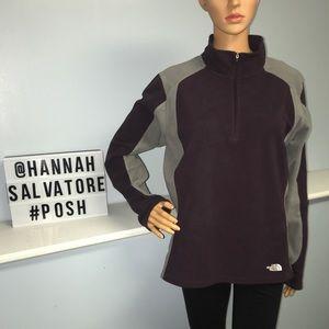 The North Face women's fleece purple sweater